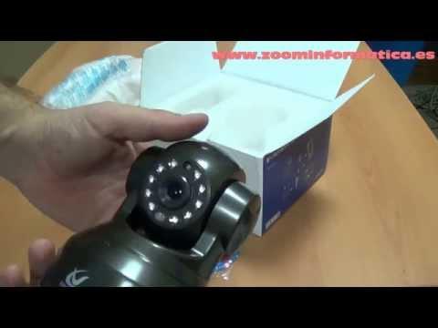 camara ip p2p con ddns y slot tf micro sd para grabacion