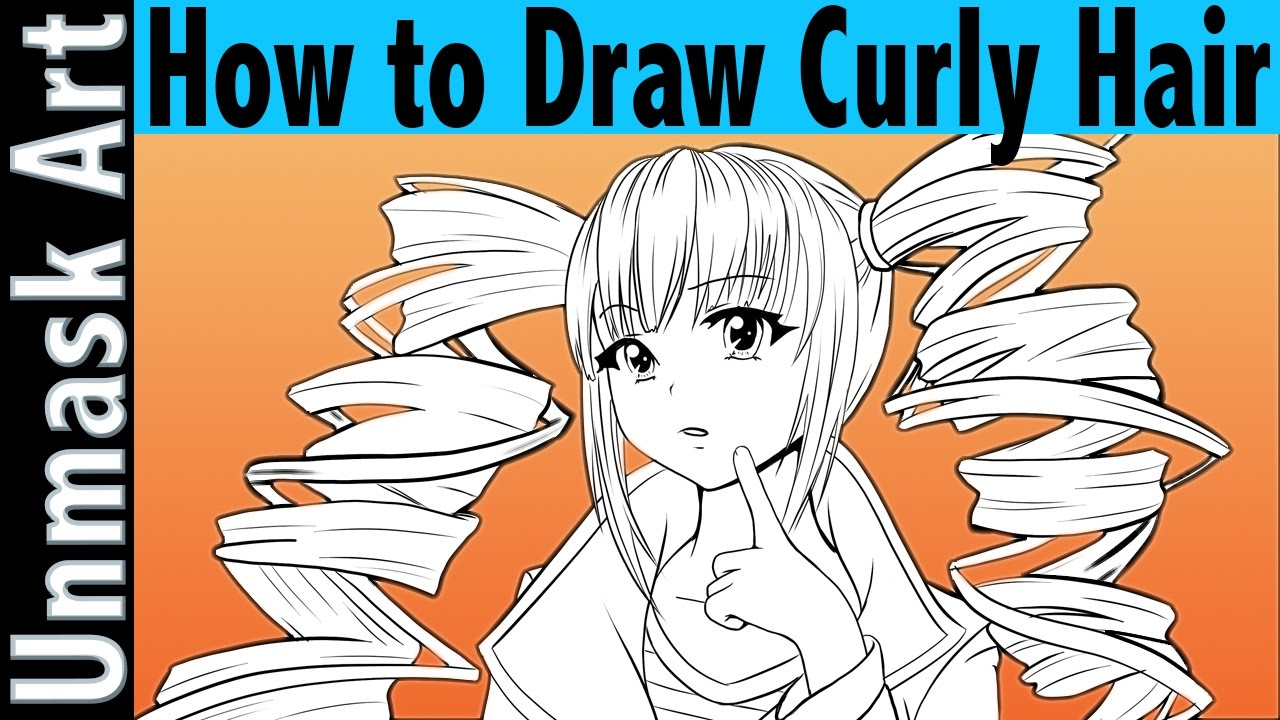 draw curly hair anime