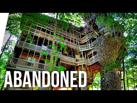 Biggest Treehouse In The World Inside exploring worlds largest treehouse! (abandoned!) - youtube