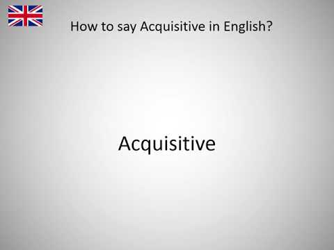 How to say Acquisitive in English?