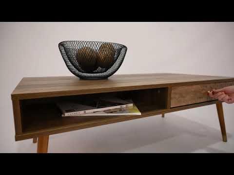 Τραπεζάκι Σαλονιού Shanice Ορθογώνιο 110x59x39cm
