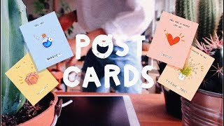 ILLUSTRATING POSTCARDS WITH PROCREATE | WATCH ME DRAW