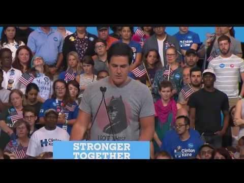 Mark Cuban ENDORSES Hillary Clinton & Trashes Donald Trump at Pittsburgh Rally 7/30/16