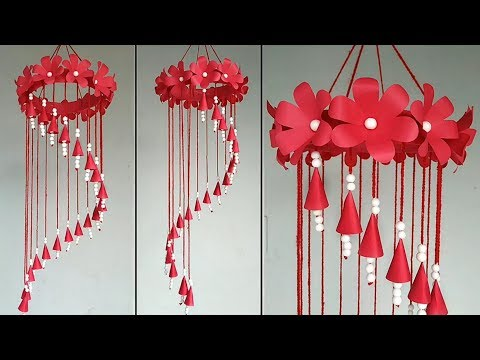 Beautiful Wind Chime Out Of Paper and Thermocol Balls | Home Decor Idea