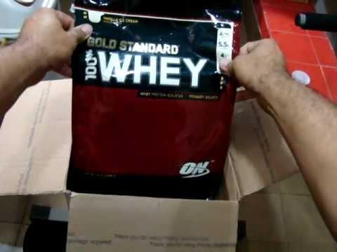 c6561cbec Optimum Nutrition 100% Whey Protein Gold 10lb - Unboxing - YouTube