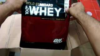 Optimum Nutrition 100% Whey Protein Gold 10lb - Unboxing