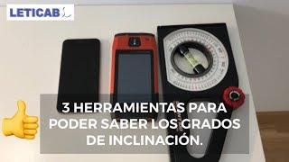 😏3 MANERAS DE MEDIR #GRADOS DE INCLINACIÓN# Y PENDIENTE EN CUBIERTAS