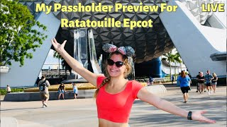 My Passholder Preview For Ratatouille Epcot