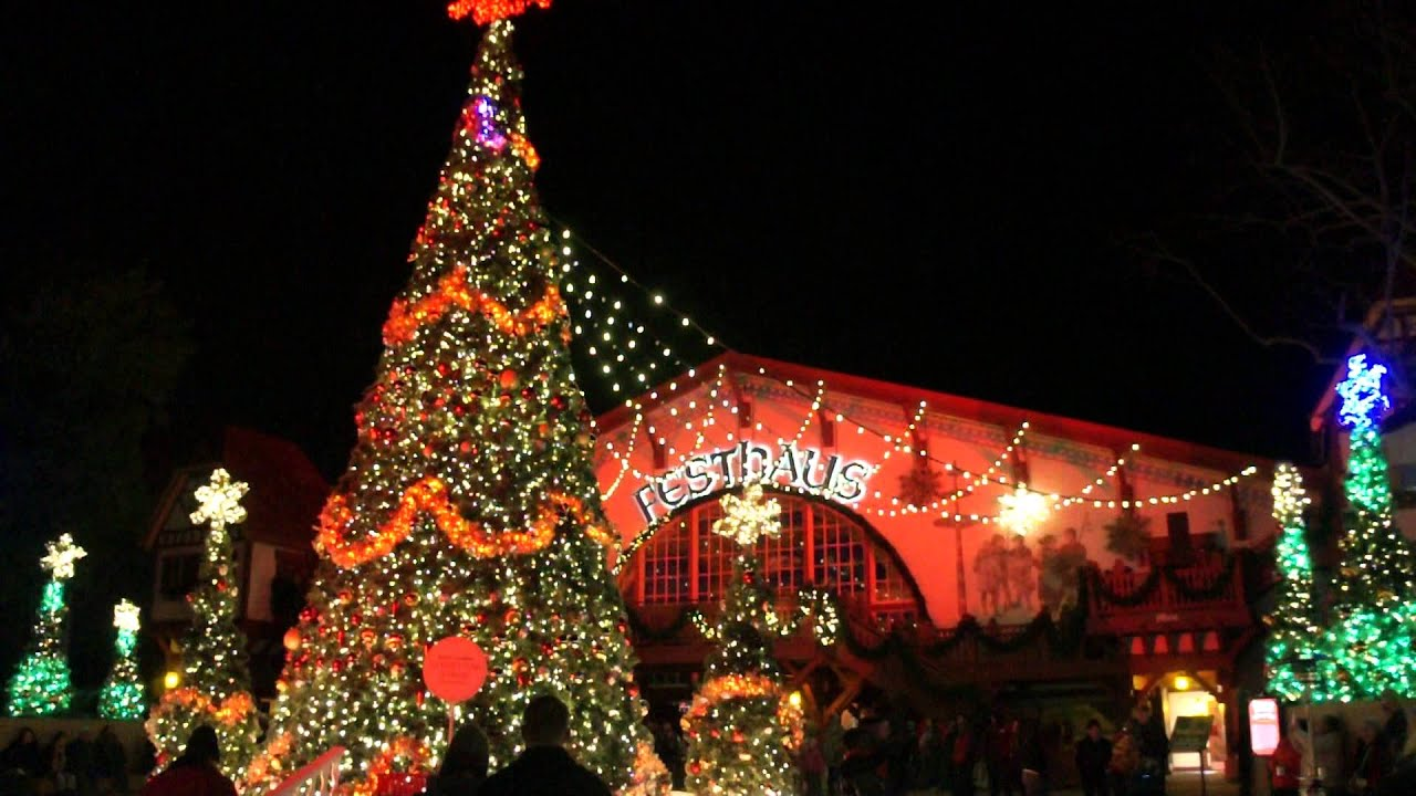 Busch gardens christmas town das festhaus light show youtube for Busch gardens christmas town 2016