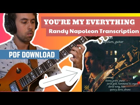 You're My Everything-Randy Napoleon Transcription