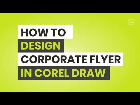 How To Create Corporate Flyer In Corel Draw  YouTube
