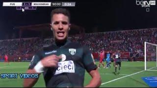 أهداف مباراة الفتح الرباطي و مولودية بجاية 1-1 || إياب نصف نهائي كأس الكاف 2016 ||