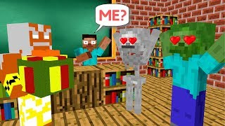Monster School: Unboxing Present from God- Minecraft Animation