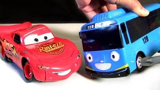 Klip Kitz Lightning McQueen Assembly Toy Car Disney Cars Tayo the Little Bus 타요 전동공구 테이블