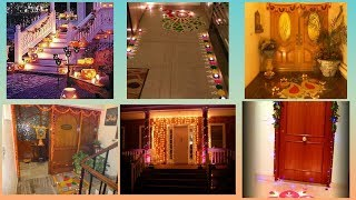 Diwali home entrance decorations ideas | Home entrance decoration ideas on diwali |