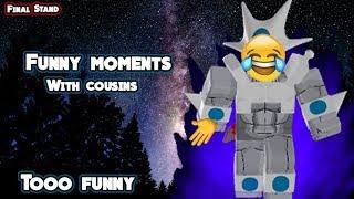Enseñar a los primos a jugar final stand w/Jenkz (Momentos divertidos) - Roblox