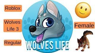 Roblox   Wolves' Life 3   Regular Female Wolves
