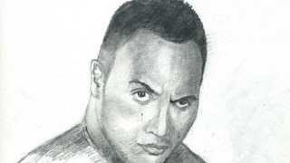 How To Draw The Rock Dwayne Johnson Step By Step