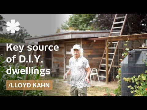 Lloyd Kahn on his NorCal self-reliant half-acre homestead