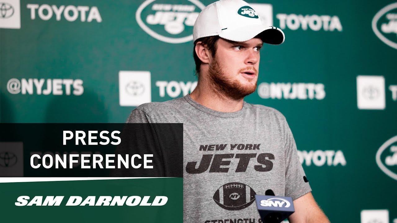 Sam Darnold Postgame Press Conference New York Jets Vs New England Patriots 10 21 Nfl