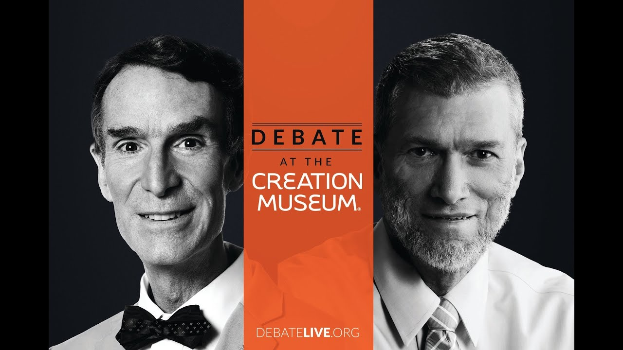 Image result for bill nye vs ken ham debate