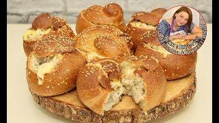 Жульен с грибами в булочке! Ооочень вкусно и быстро, простой рецепт.