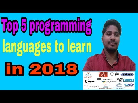 Top 5 Programming languages in 2018 to learn
