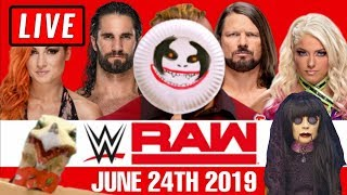 WWE Raw Live Stream - Full Show Watch Along June 24th 2019