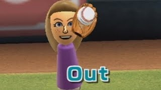 99-0 wii sports baseball attempt but abby keeps ruining it