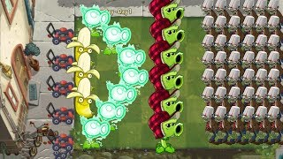 Banana Launcher and Electric Peashooter vs 999 Zombies - Pvz 2