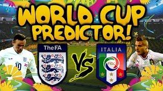THE EA WORLD CUP PREDICTOR - EP 2 - ENGLAND VS ITALY