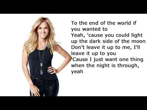 #Carrie Underwood - End Up with You official lyrics video:)
