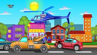 Auto Transport Truck | Formation And Use | Kids Cartoon Vehicles | Video For Kids | Ame   #part 248