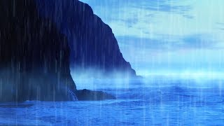 Rain Sounds for Sleeping, Studying or Focus with Ocean Waves White Noise