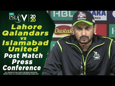 Sohail Akhtar Post Match Press Conference | Lahore Qalandars Vs Islamabad United | HBL PSL 2020