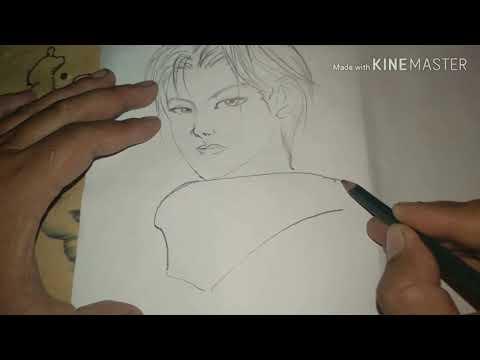 Cara Menggambar Zilong Skin Blazing Lancer Hero Mobile Legenda Bangbang