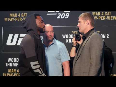 UFC 209 media day face-offs