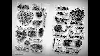 Knitting and Crochet Stamp Set Review