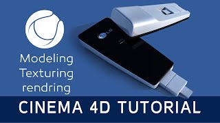3G Modem | Cinema 4D Tutorial (modeling,texturing,animating,Xpresso)