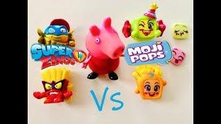 Bajka Świnka Peppa po polsku 2019    Super Zings vs Moji Pops   UNBOXING