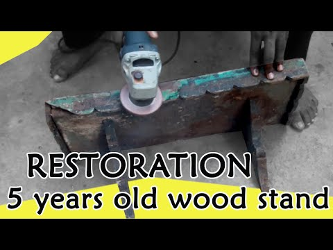 DIY - RESTORATION of 5 years old wooden stand / old wood works/ Furniture