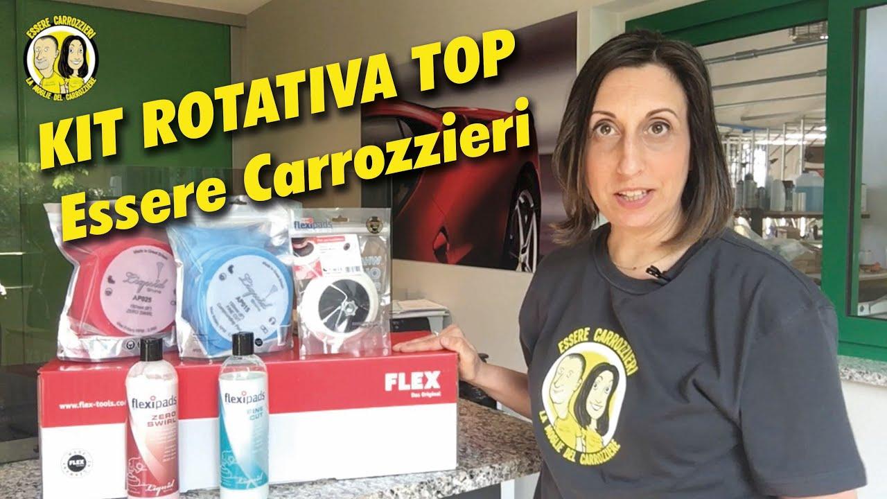 KIT Rotativa TOP con Lucidatrice Rotativa FLEX- Essere Carrozzieri