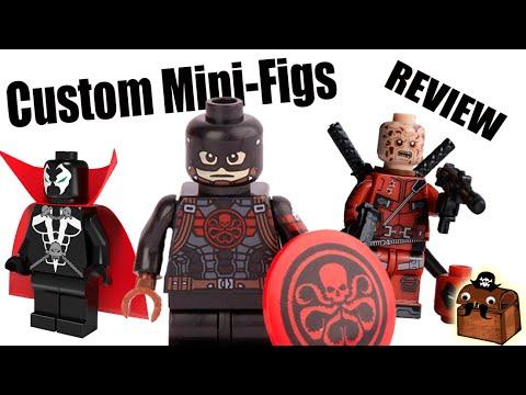 MS MARVEL Superhero Marvel Custom Printed /& Inspired Lego Minifigure