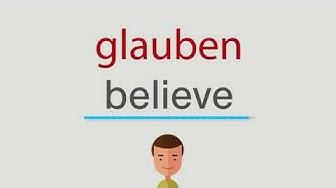 glauben auf englisch