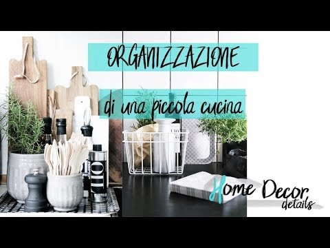 Organizzazione di una piccola cucina