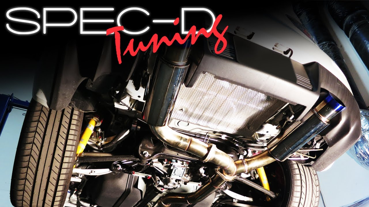 specdtuning installation video 2008 2012 mitsubishi evo x cat back exhaust system