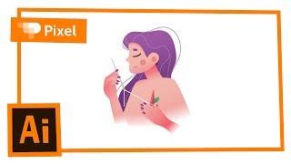 Рисуем девушку в Adobe Illustrator | уроки для новичков