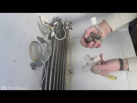 replacing the evaporator fan motor with wire harness - 115v