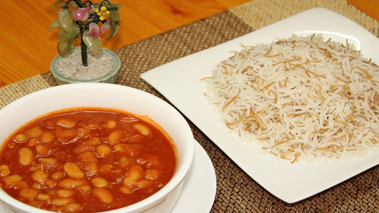 طريقه عمل مرق الفاصوليا اليابسه مثل المطاعم الفاصوليا البيضاء مع الرز بالشعريه مطبخي First