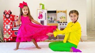 Nastya and Mia both want the same dress
